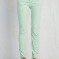 Front Row Fashionista Jeans in Mint | Mod Retro Vintage Pants | ModCloth.com