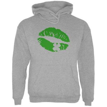DCCKU3R St Patrick's Day Kiss the Blarney Stone Mens Hoodie