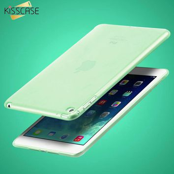 "KISSCASE 7.9"" Clear Transparent Case for iPad mini 4 Soft TPU Silicone Cover for apple ipad mini4 Slim Tablets PC Accessories"
