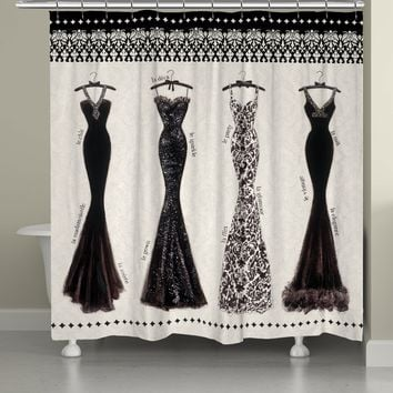 Couture Noir Shower Curtain