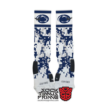 Custom Nike Elite Socks - Penn State Nittany Lions Custom Nike Elites - PSU Socks, Custom Elites, Penn State Socks