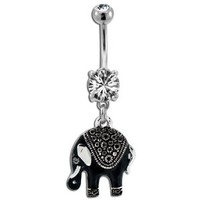 Bindi Style Elephant Belly Ring;Sold individually