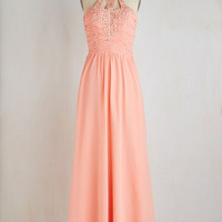 ModCloth Long Sleeveless Maxi Waltz and Whisk Away Dress