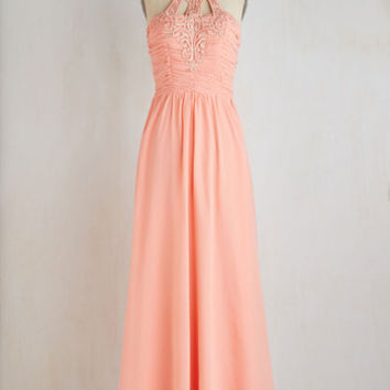 Long Sleeveless Maxi Waltz and Whisk Away Dress by ModCloth