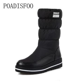 POADISFOO Puls Size The new 2017 winter snow boots warm high-quality fabrics and lightweight platform snow boots.X-90