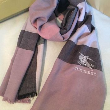 VONEA7H BURBERRY BRAND NEW SCARF FOR WOMEN CASHMERE 100% AUTHENTIC