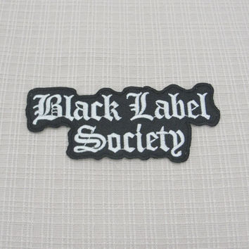 Iron on patch. Black Label Society patch