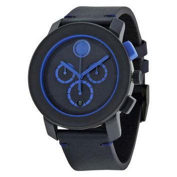 Movado Bold Leather Chronograph Watch 3600349