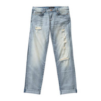 Joe Fresh Bleached Distressed Boyfriend Jean