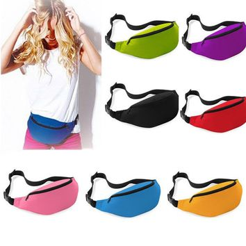 Unisex Athletic Outdoor Bags Bag Fanny Pack Hip Waist packs Festival Sport Money Zip Pouch Belt Wallet BX193