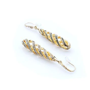 Helix Shaped Unique Long Dangle Earrings