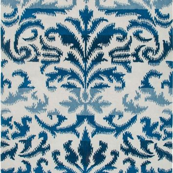 Sea Ombre Blue Ikat Rug