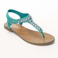 Candie's Studded Thong Sandals - Women