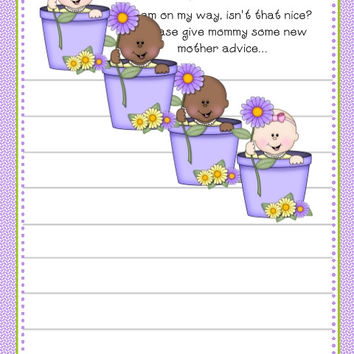Spring Baby Shower Advice Cards
