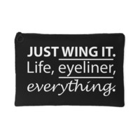 Just Wing It  Makeup Bag