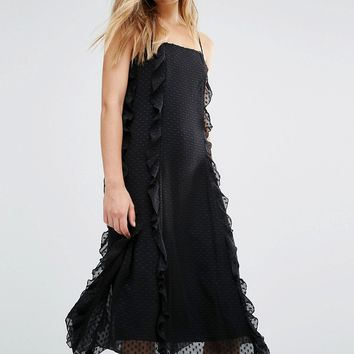 Warehouse Strappy Frill Dress