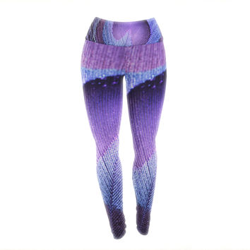 "Monika Strigel ""Purple Peacock"" Lavender Yoga Leggings"