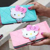 Anime hello kitty carteras long magic wallet leather designer women wallets purse billeteras monedero mujer portefeuille femme