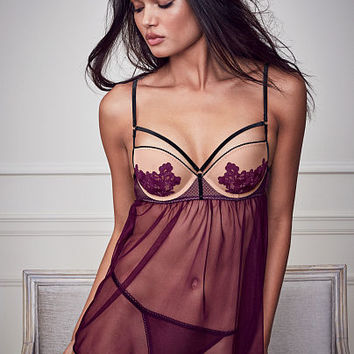 Embroidered Mesh Babydoll - Dream Angels - Victoria's Secret