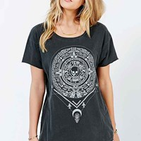 Truly Madly Deeply Medallion Tee- Charcoal