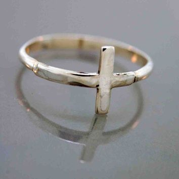$30.00 Side Cross Ring by TeriLeeJewelry on Etsy