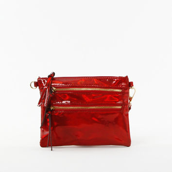 Iridescent Clutch in Red