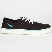 Nike Sb Braata Lr Canvas Mens Shoes Black/Crystal Mint/Ivory  In Sizes