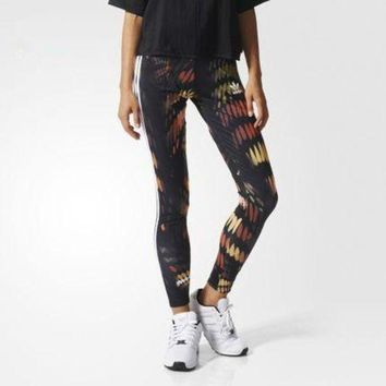 DCCKBA7 Fashion Adidas Tight stretch Multicolor Print Exercise Fitness Gym Yoga Running Leggings Sweatpants