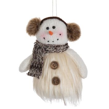 Snowman with Ear Muff Ornament
