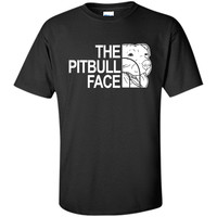 The Pitbull Face Funny Dog Pitbull T-shirts