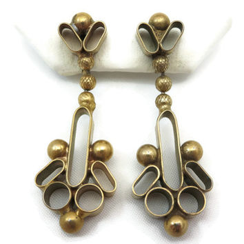 Brass Earrings - Costume Jewelry, Clips