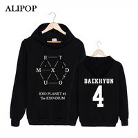 Alipop KPOP Korean Fashion EXO Planet 3 Tour EX'ACT Album Cotton Hoodies With Hat Clothes Pullovers Sweatshirt PT282