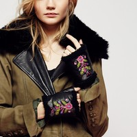 Free People Flora Embroidered Handwarmer