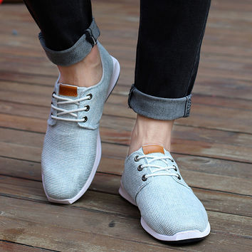 Summer Men Canvas Running Shoes