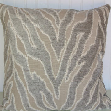 Velvet Contemporary Decorative Pillow Cover 18x18 or 20x20 or 22x22-Grey Abstract  Throw Pillow-- Accent Pillow.