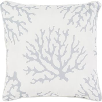 Coral Throw Pillow Gray, Neutral