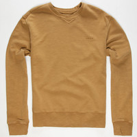 Rvca Desert Sun Mens Sweatshirt Brass  In Sizes