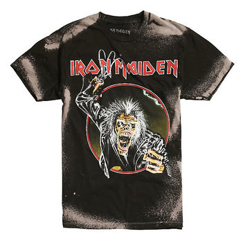 Iron Maiden Eddie Hook Bleached T-Shirt