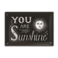 You Are My Sunshine Glass Tray