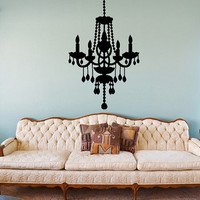 Chandelier Wall Sticker - Victorian Chandelier decal