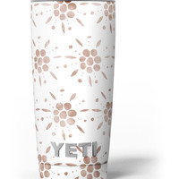 Brown Watercolor Flowers V1 Yeti Rambler Skin Kit