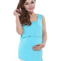 Modal Nursing Tank tops cheap breastfeeding vest clothes affordable maternity wear clothing for pregnant women pregnancy dresses
