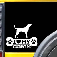 Coonhound Bone Sticker L019 8 inch coonhunting dog decal