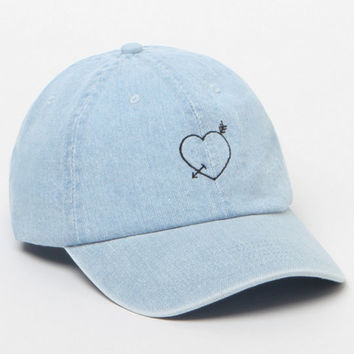 LA Hearts Heart & Arrow Denim Baseball Cap at PacSun.com
