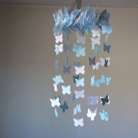 SALE! Butterfly paper mobile frozen theme. Baby Nursery mobile,Crib mobile. All occasion lullaby mobile. Boy/Girl/Teen/Tween mobile