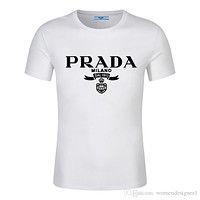 19SS/prada Shirt Designers t shirt brand Printed Cotton 8GUCCI Luxury Casual 8moncler polo shirt north tee prad women Mens 6face clothing