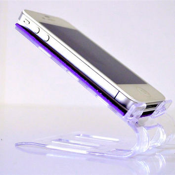 Glitter iPhone stand / Phone stand - Your Deep Purple Glitter Shiny Stand