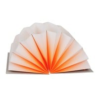 PLISSE orange Archive Folder M in fluo paper and grey cardboard paper - HAY