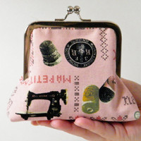 Sewing Notions Print Clutch Purse - Small