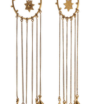 Chloé - Layton hammered gold-tone earrings